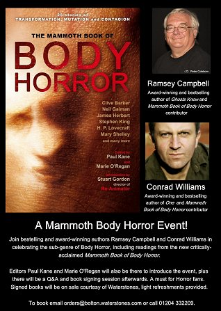 Mammoth Book of Body Horror event, Bolton