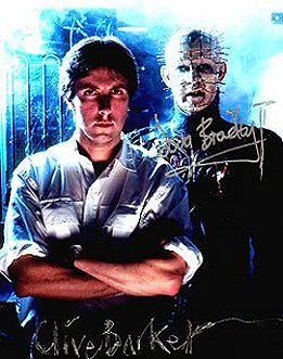 Clive Barker and Pinhead signed poster