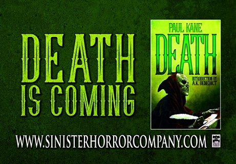 Death is Coming: Death, by Paul Kane, from Sinister Horror Company