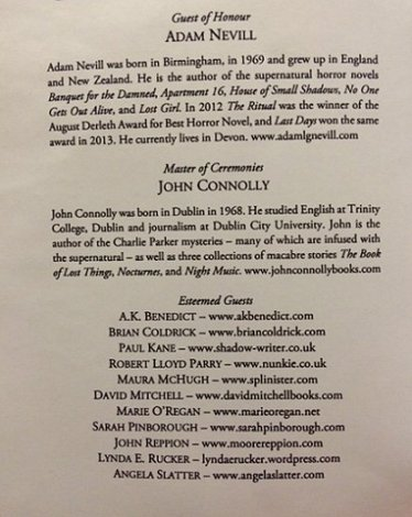 Dublin Ghost Story Festival list of Guests