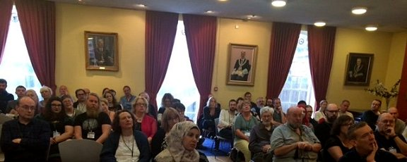 Audience for panel at Dublin Ghost Story Festival