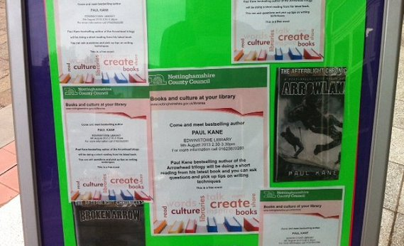 Edwinstowe Library, 'Meet Paul Kane event'