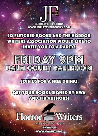Jo Fletcher Books/Horror Writers Association signing and party at FantasyCon by the Sea