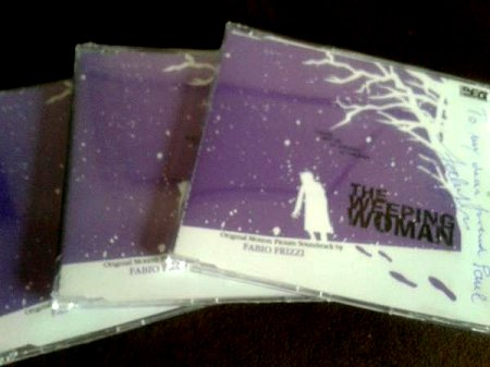 The Weeping Woman CD, music by Fabio Frizzi