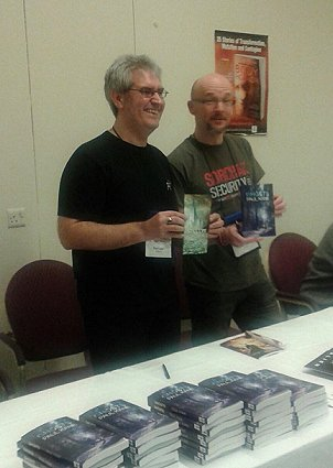 Paul Kane and Tim Lebbon - Ghosts signing, WFC