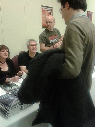 Nancy Kilpatrick, Paul Kane and Tim Lebbon, signing
