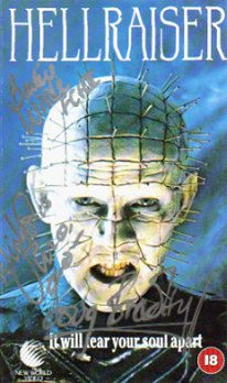 Hellraiser Cover, Signed