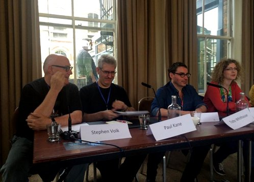 L to R: Stephen Volk, Paul Kane, Toby Whithouse, Maura McHugh