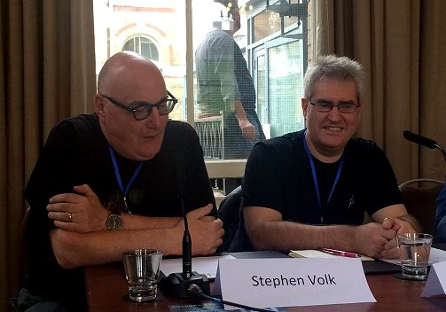 L to R: Stephen Volk, Paul Kane