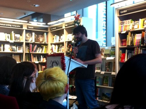 Joe Hill reading at Waterstones Liverpool One