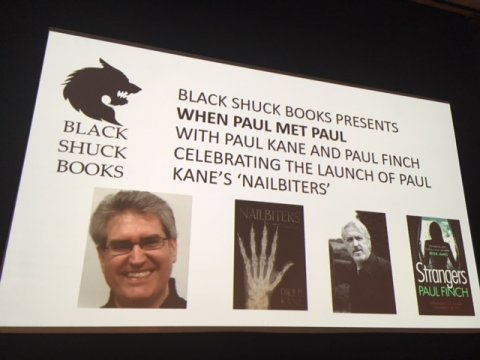Paul Kane - Nailbiters launch event at Derby Quad. With Paul Finch.