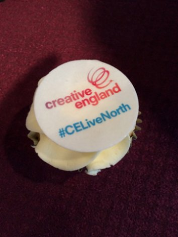 Creative England Northern Lights event, cake