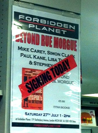 Beyond Rue Morgue signing at Forbidden Planet