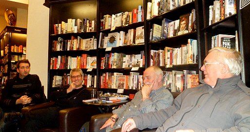 L to R: David McWilliam, Paul Kane, Peter Crowther and Ramsey Campbell